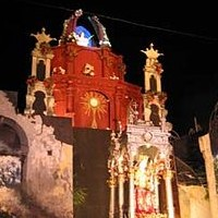 The feast in honour of the patron saint Belpasso Catania Sicily