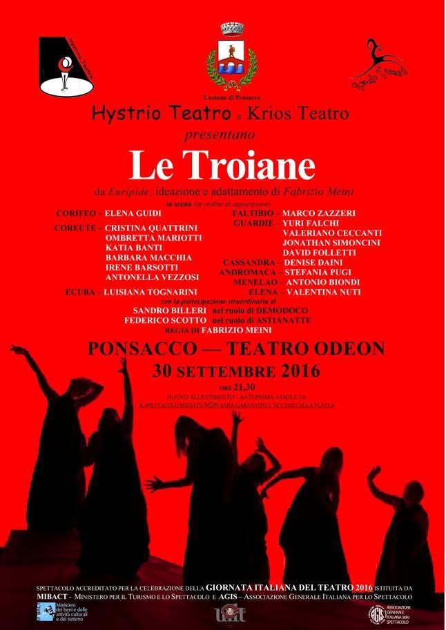 Le Troiane al teatro Odeon Ponsacco