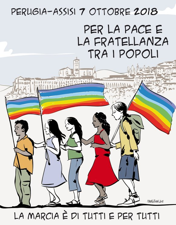 The March Perugia Assisi peace 2018
