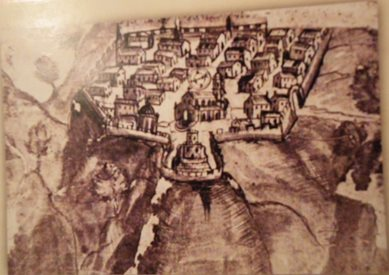 Disegno su Piazza Armerina Enna del 1640