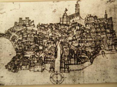 Disegno su Piazza Armerina Enna del 1628