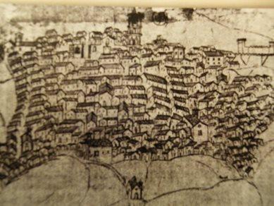 Disegno di Piazza Armerina del seicento