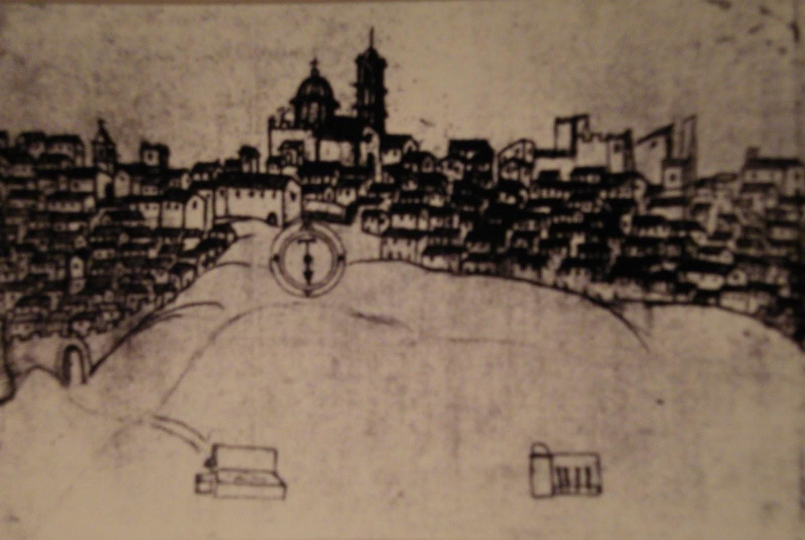 Disegno di Piazza Armerina del settecento