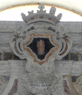 Duomo Piazza Armerina e Stemma S. Bartolomeo Trigona