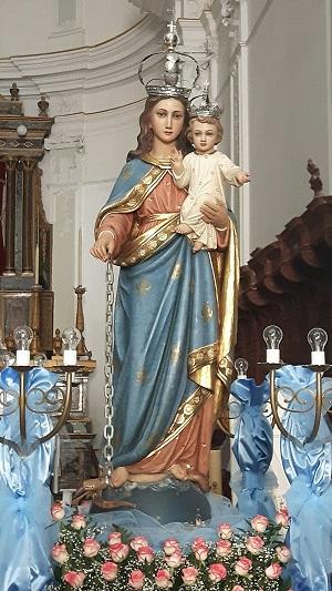 Madonna della Catena nella chiesa del Crocifisso, Piazza Armerina
