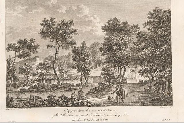 Giardino dei Cappuccini Vecchi a Piazza Armerina nell'800
