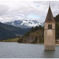Campanile del lago di Resia Bolzano Trentino Alto Adige