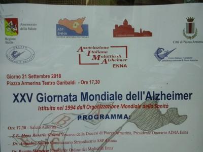 XXV Giornata Mondiale dell'Alzheimer Piazza Armerina