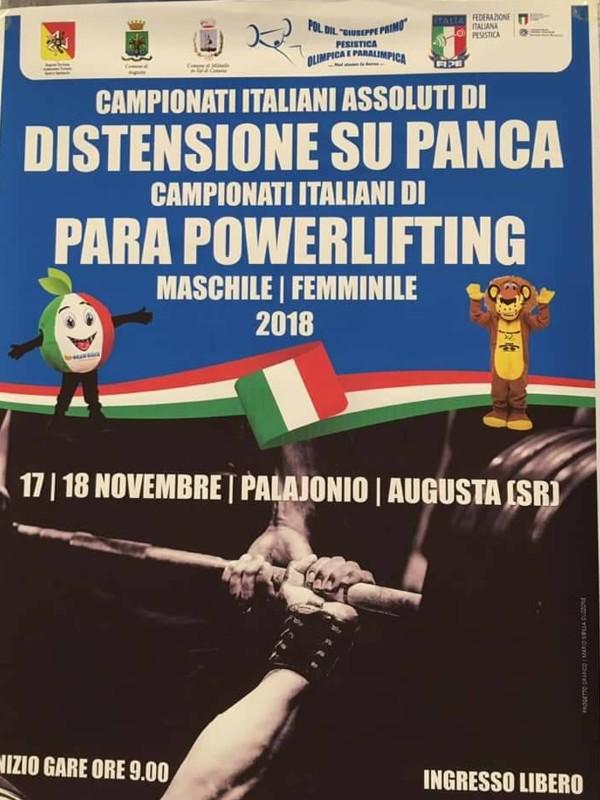 Campionati Italiani di Para Powerlifting (Pesistica Paralimpica) ad Augusta Siracusa