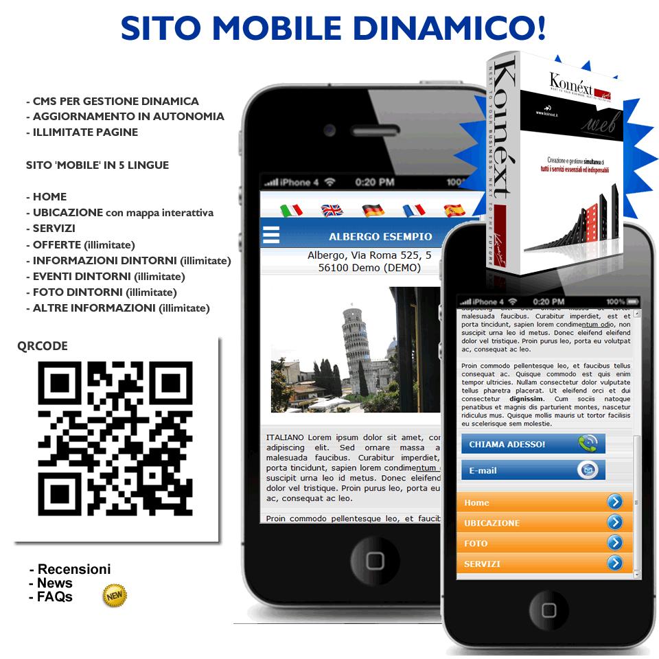 Koinext all in one offerte speciali cms siti web e mobile for Sito mobili